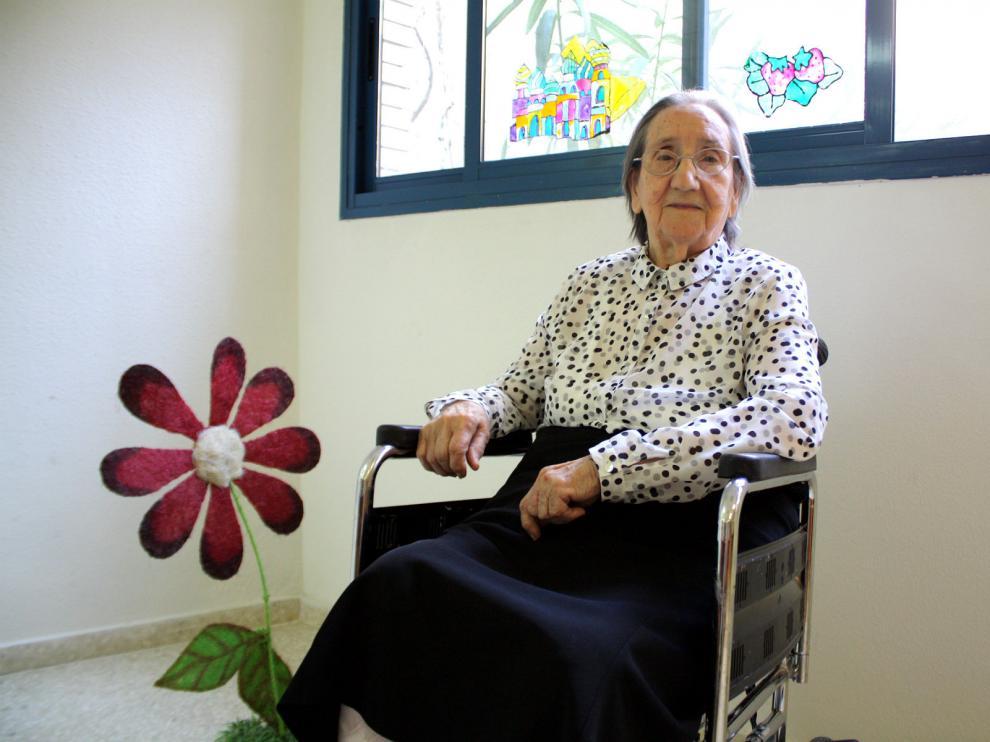 Filomena no pierde el humor a sus 104 años de edad