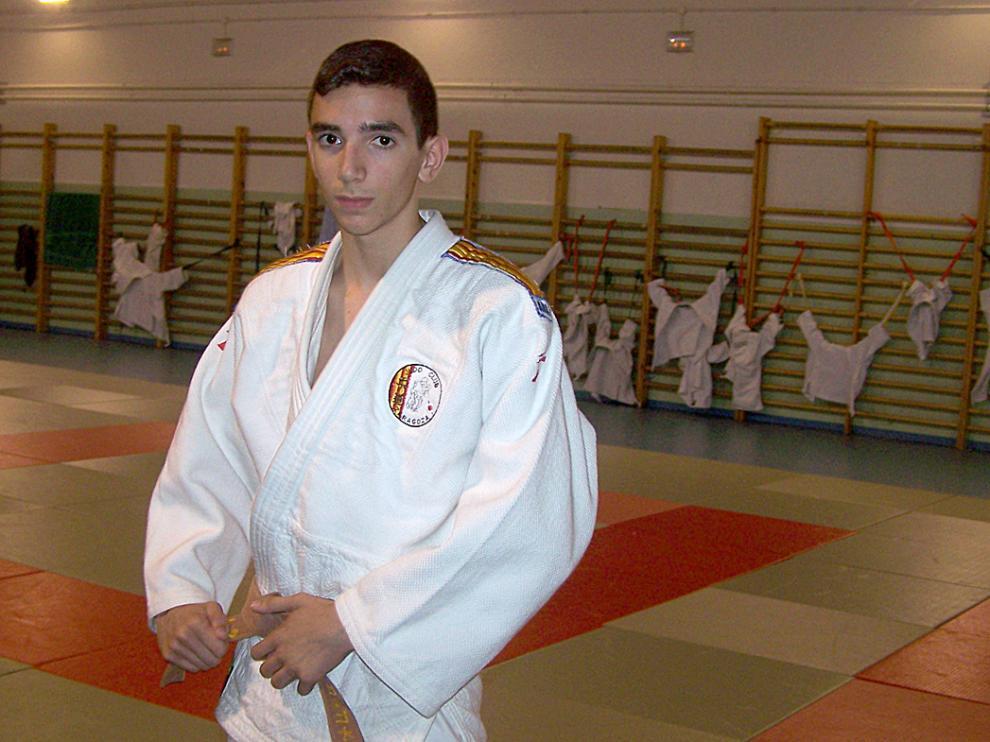 El judoca de Alagón Sergio Ibáñez, en un clínic celebrado en Graus la pasada semana.
