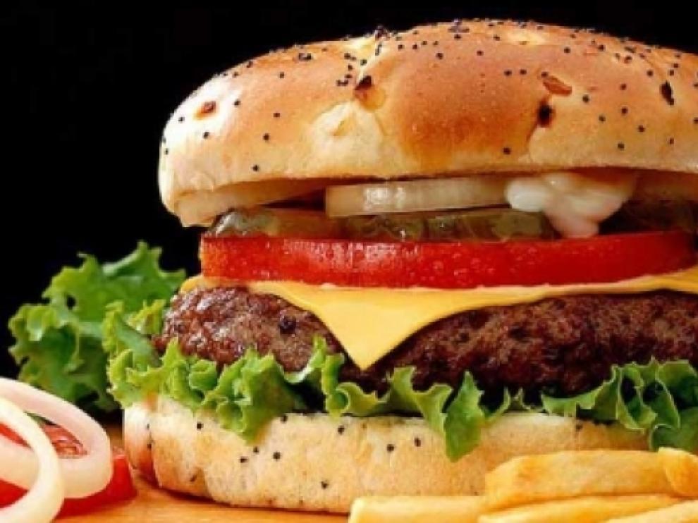 Imagen de archivo de una hamburguesa