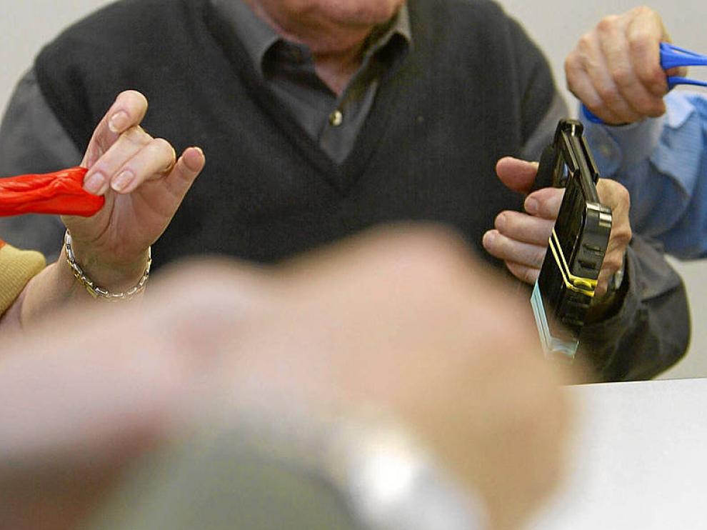 Terapia ocupacional para enfermos de Parkinson.