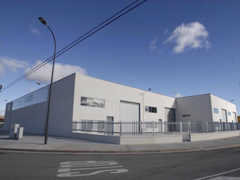 Fotografía de la planta de Carbures de El Burgo, en una imagen de archivo