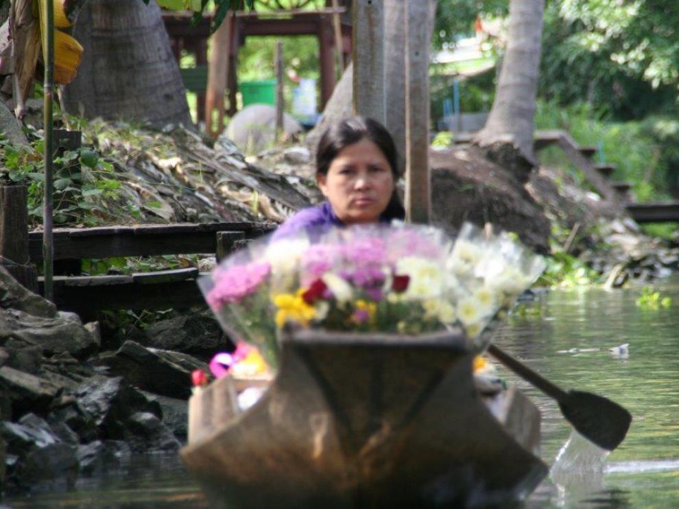 Bangkok se hermana con la flor de loto que crece en los estanques.