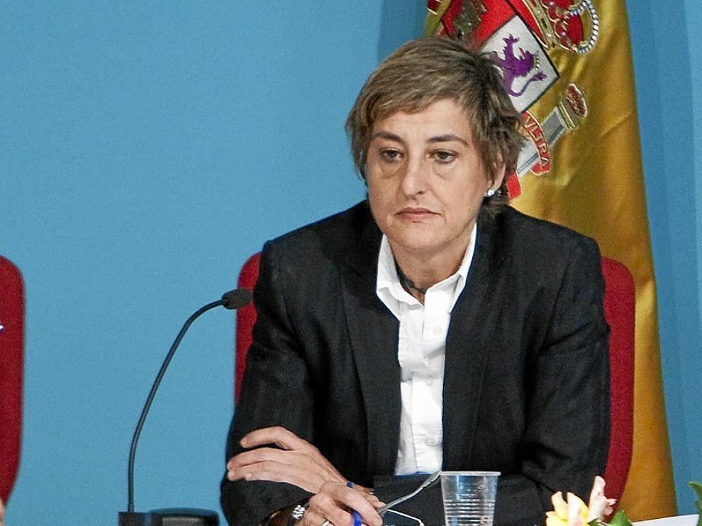 María Victoria Pinilla, durante su último pleno como alcaldesa de La Muela.