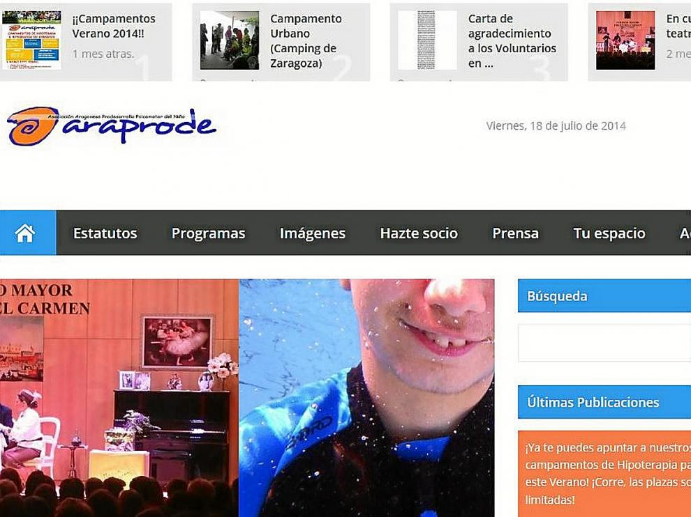 La web se ha convertido en el mejor escaparate de Araprode para dar a conocer sus actividades