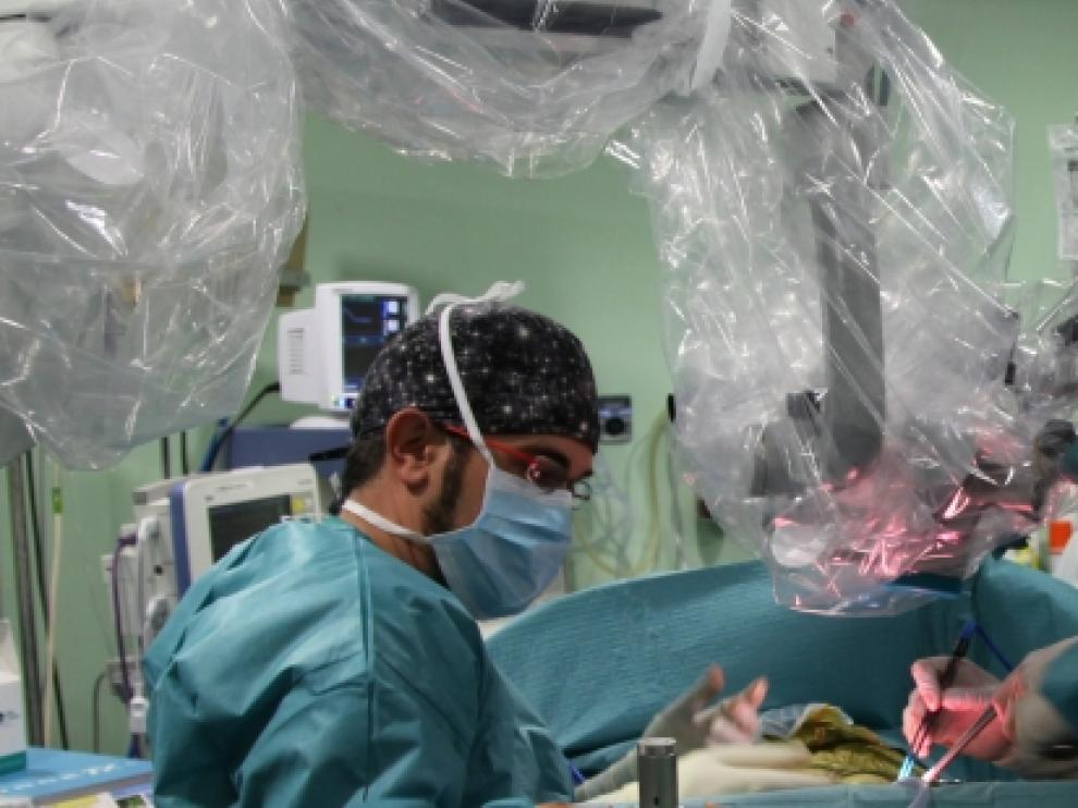 Neurocirujanos del hospital Miguel Servet de Zaragoza