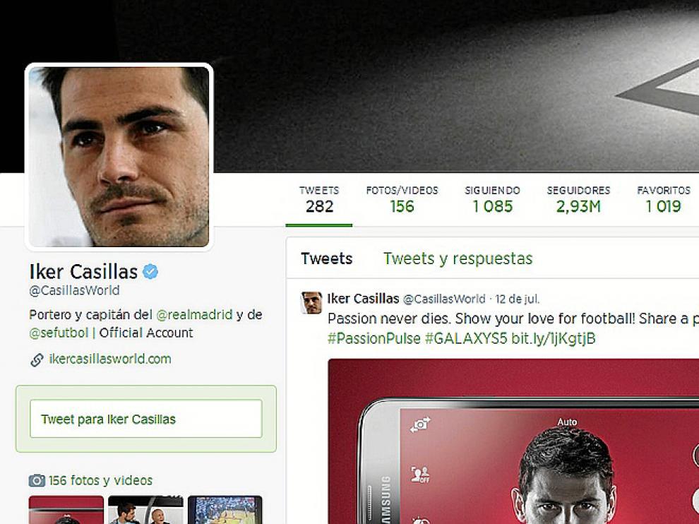 Iker Casillas es uno de los 50 twitteros más seguidos en España