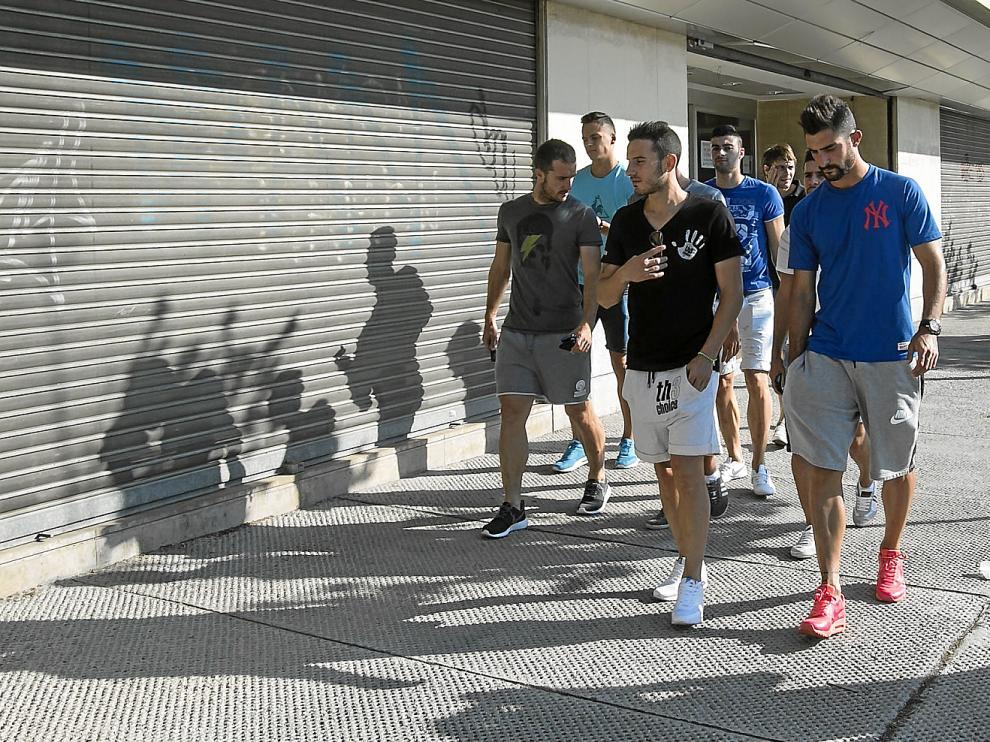 Los futbolistas siguen pendientes de la solución institucional y económica del Real Zaragoza.