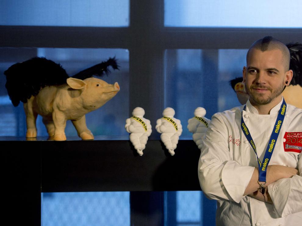 El chef David muñoz, en su restaurante DiverXO de Madrid, con tres estrellas Michelin