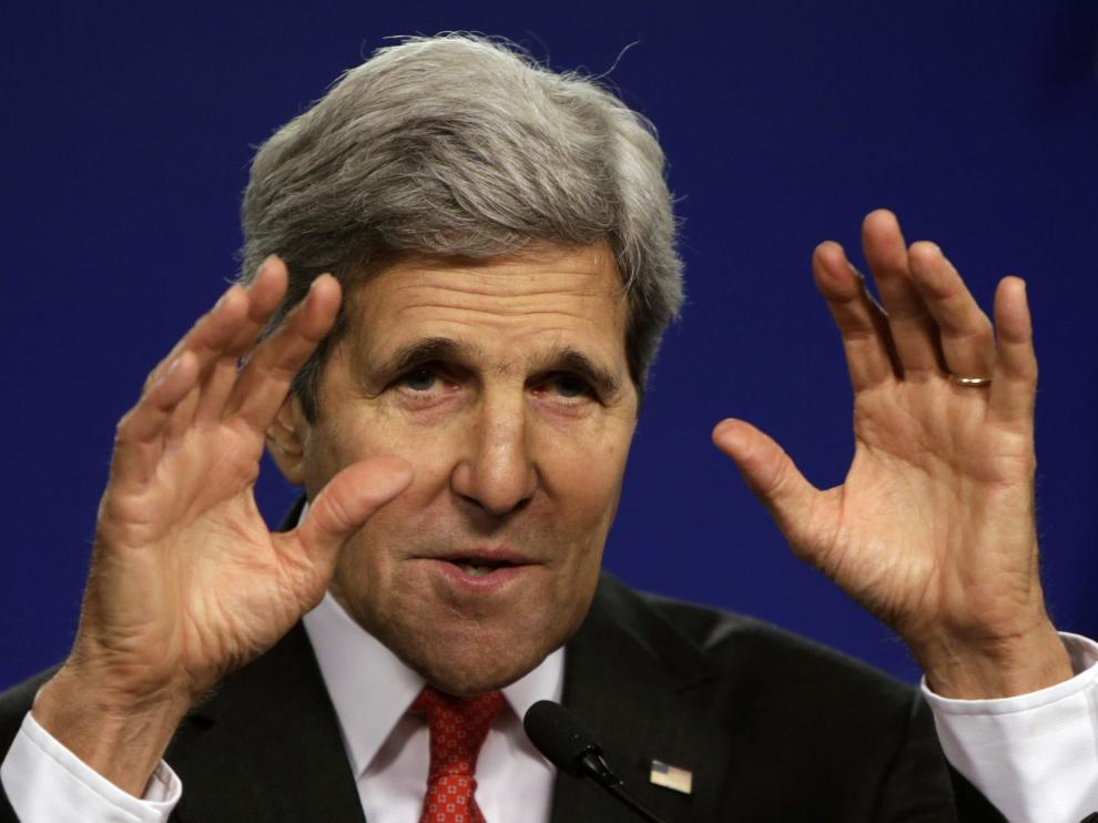 Kerry dice que la solución implica el desarme de Hamás