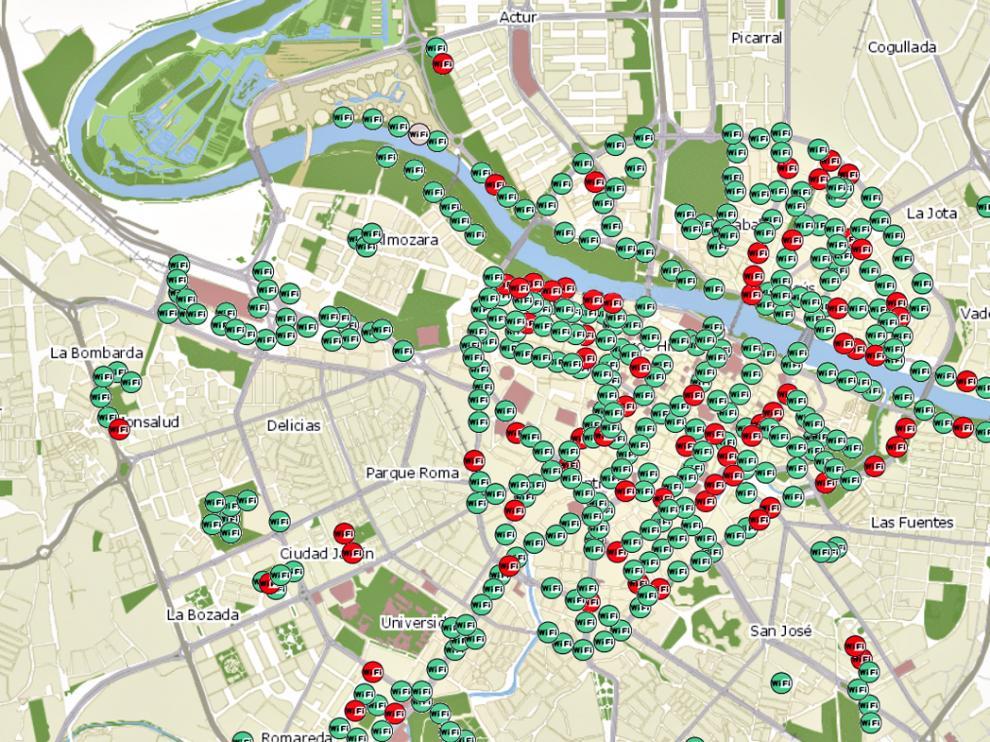 El mapa de las antenas.