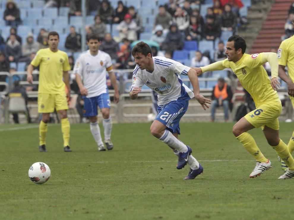 Un partido entre el Real Zaragoza y el Villarreal, en 2012