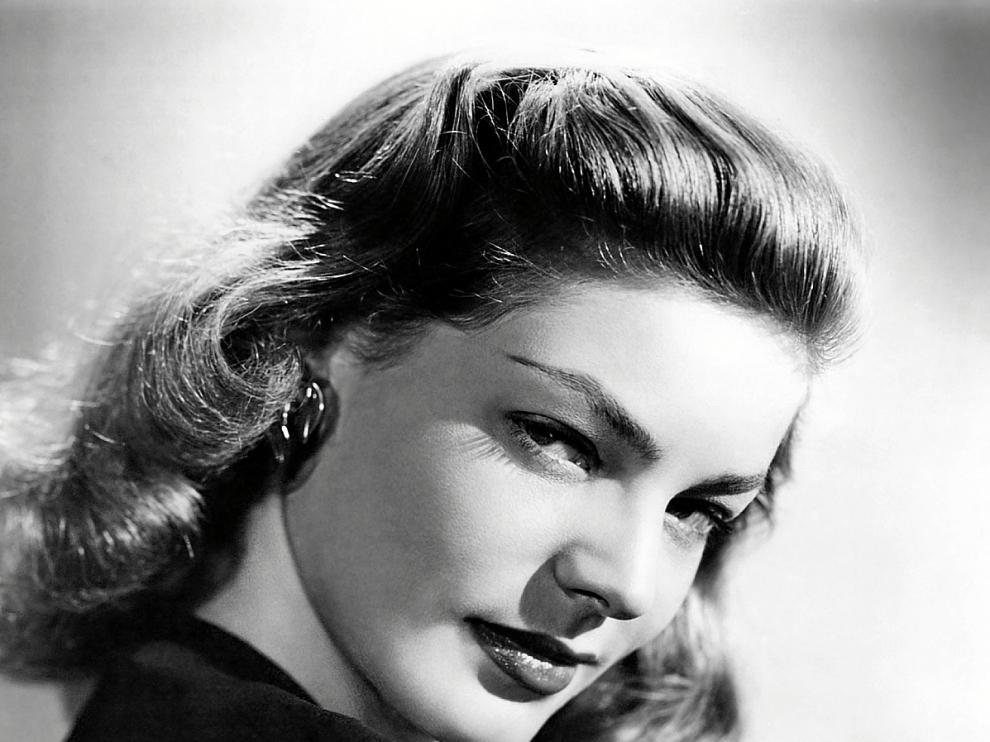 Lauren Bacall recibió el sobrenombre de 'La mirada'.