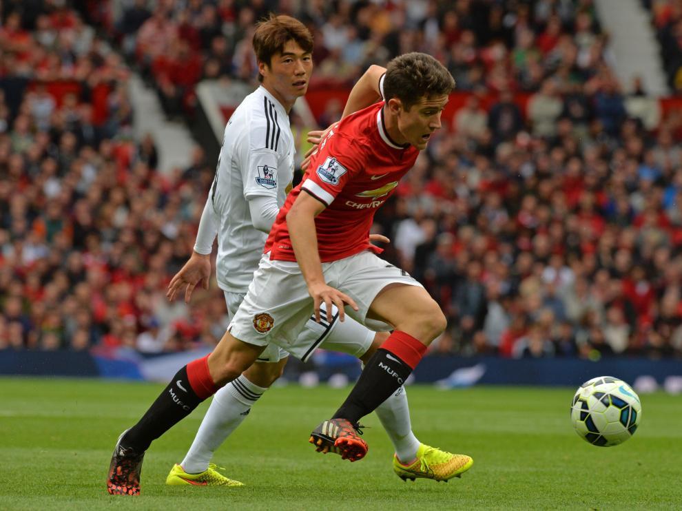 Ander Herrera, en su primer partido oficial con el Manchester United