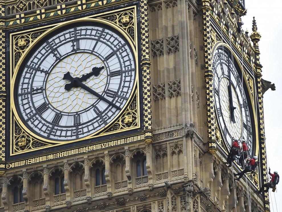 El Big Ben se detiene cuatro días por limpieza