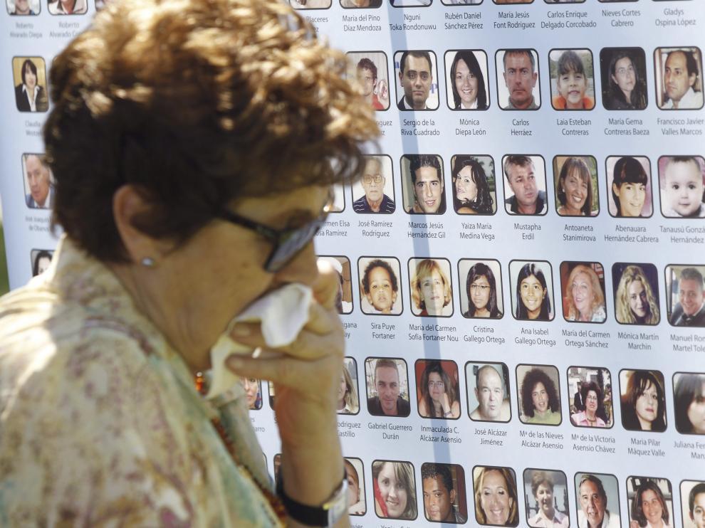 Foto de archivo de un homenaje a las víctimas del accidente de Spanair