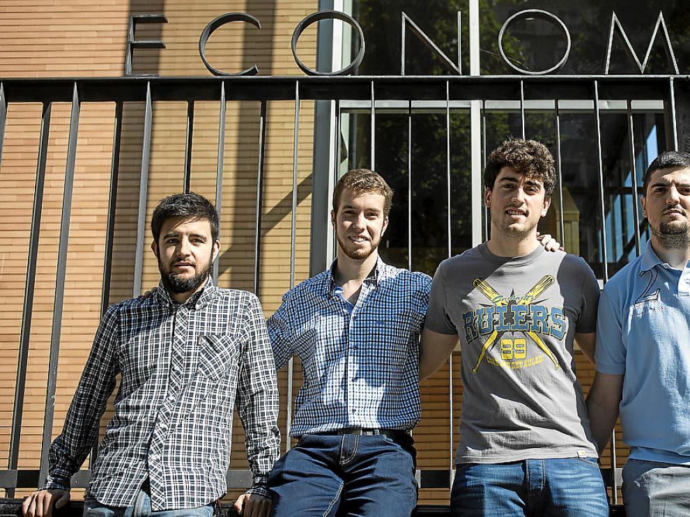 De izda a dcha: Miguel Soler, Javier Ortega, Eneko López de Dicastillo y Guillermo Peribáñez.