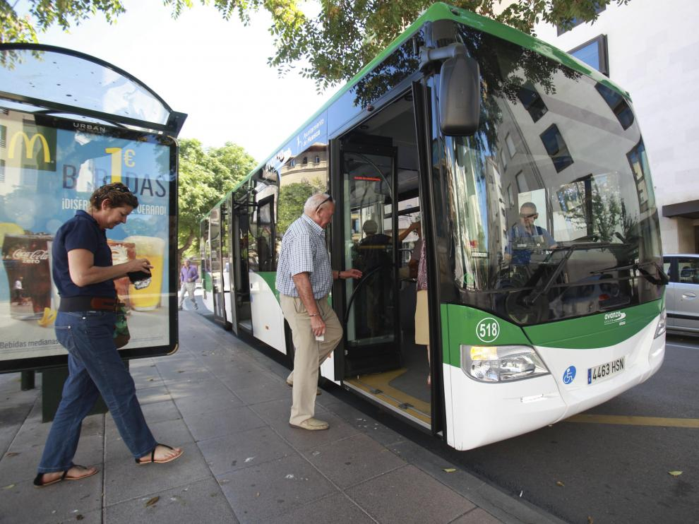Imagen del autobús urbano de Huesca