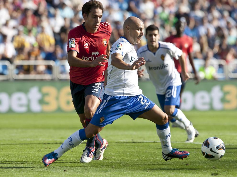 Lolo, en un partido contra el Real Zaragoza