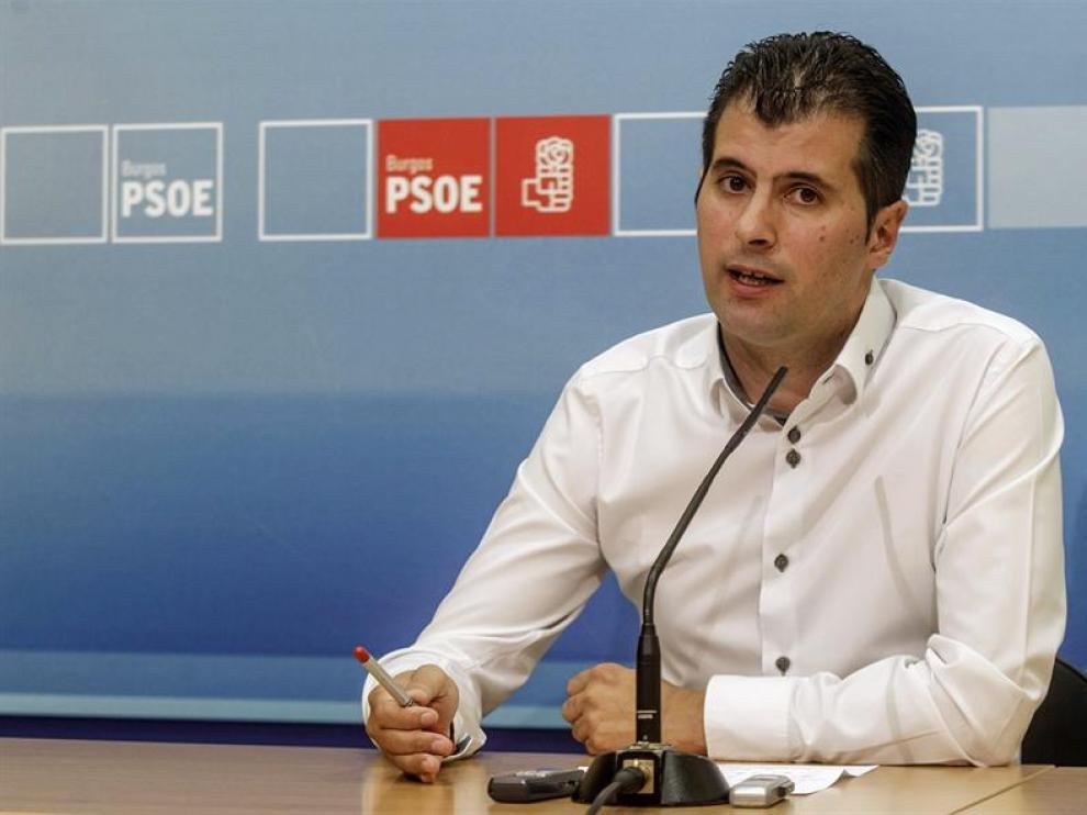 El secretario general del PSOE de Burgos y diputado nacional, Luis Tudanca