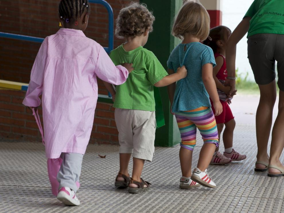 Imagen de archivo de alumnos de Infantil en un colegio zaragozano