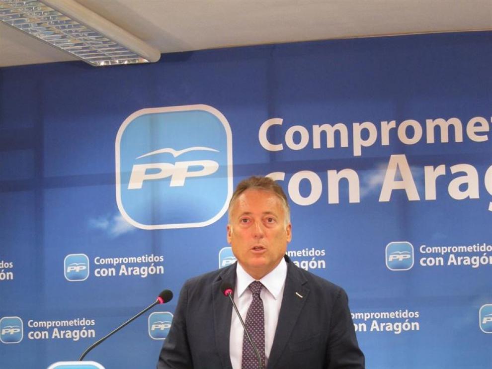 El secretario general de los populares aragoneses, Octavio López.