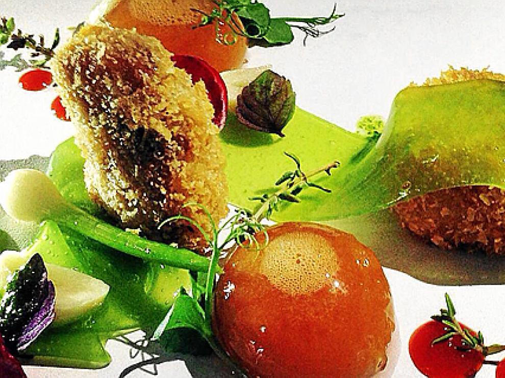 Conejo al ajillo, receta de Óscar Rodríguez, chef del restaurante Los Jardines del Plaza