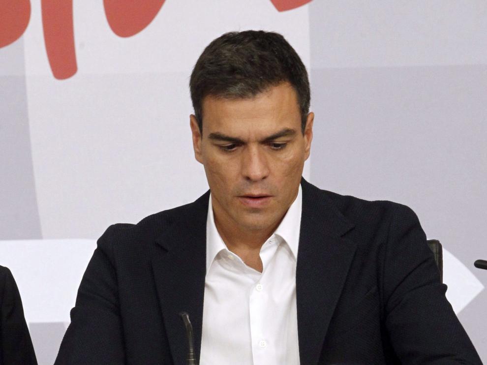 Pedro Sánchez en el Consejo de Educación del PSOE