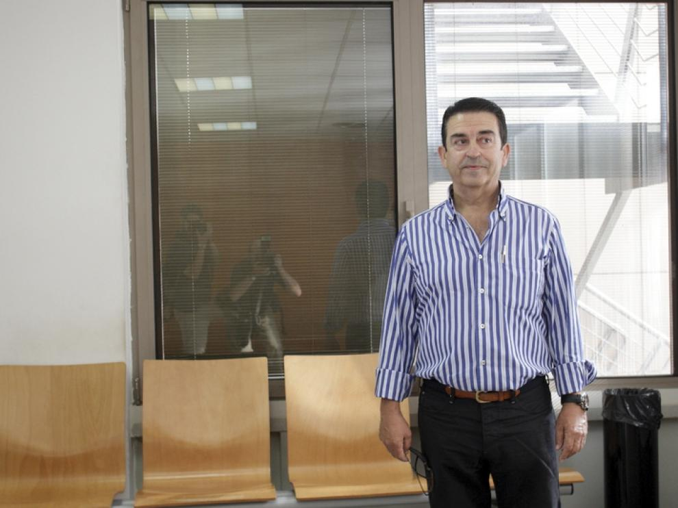 Carmelo Aured, durante el juicio