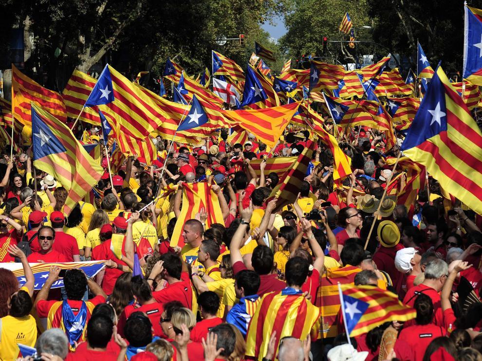 Imagen de la 'Diada' en Barcelona.