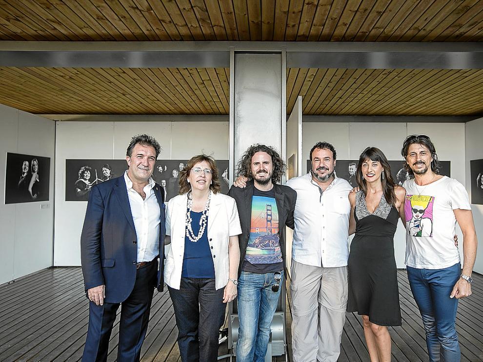 De izquierda a derecha: Ulliaque, San José, Izquierdo, Martín, Lou y Berna en el Pablo Serrano