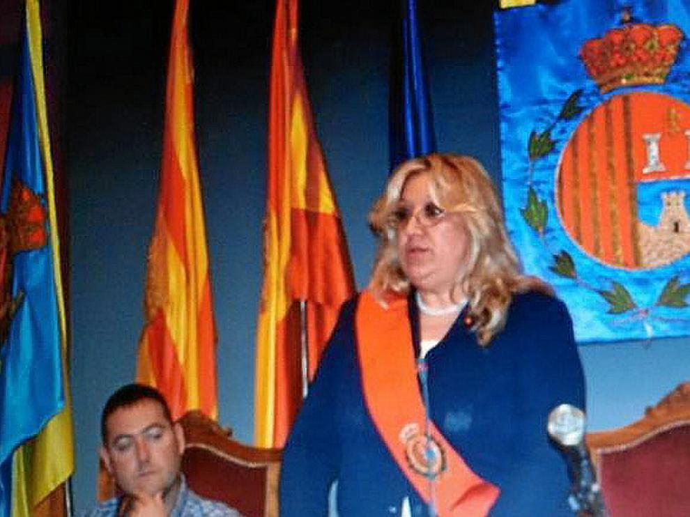 María Jesús Navarro, ayer, durante su discurso de investidura.
