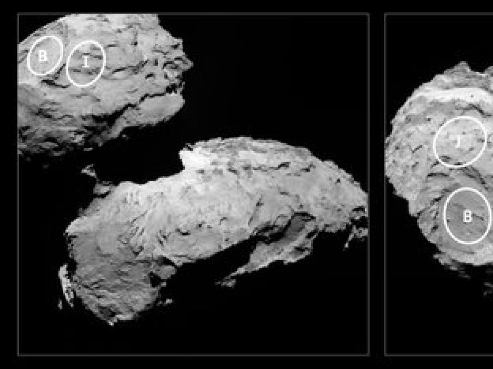 Lugar donde aterrizará la nave Rosetta