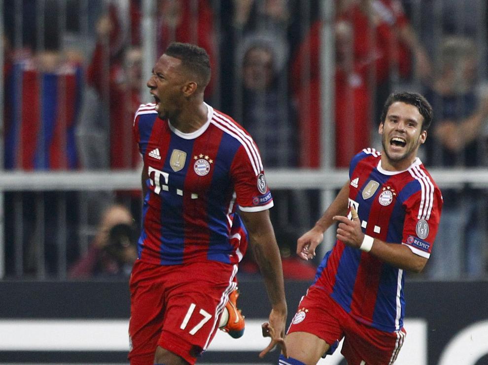 Boateng celebra el único gol del partido.