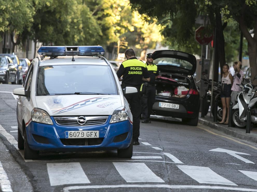 La Policía Local de Zaragoza.