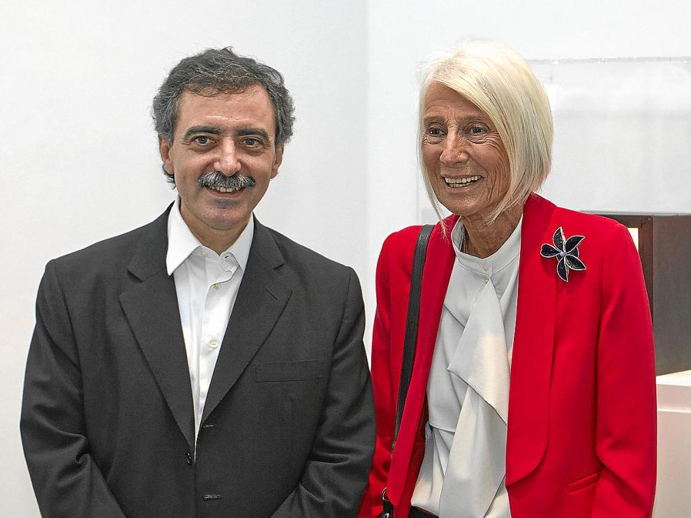 Borja-Villel, director del Reina Sofía, con la galerista Soledad Lorenzo.