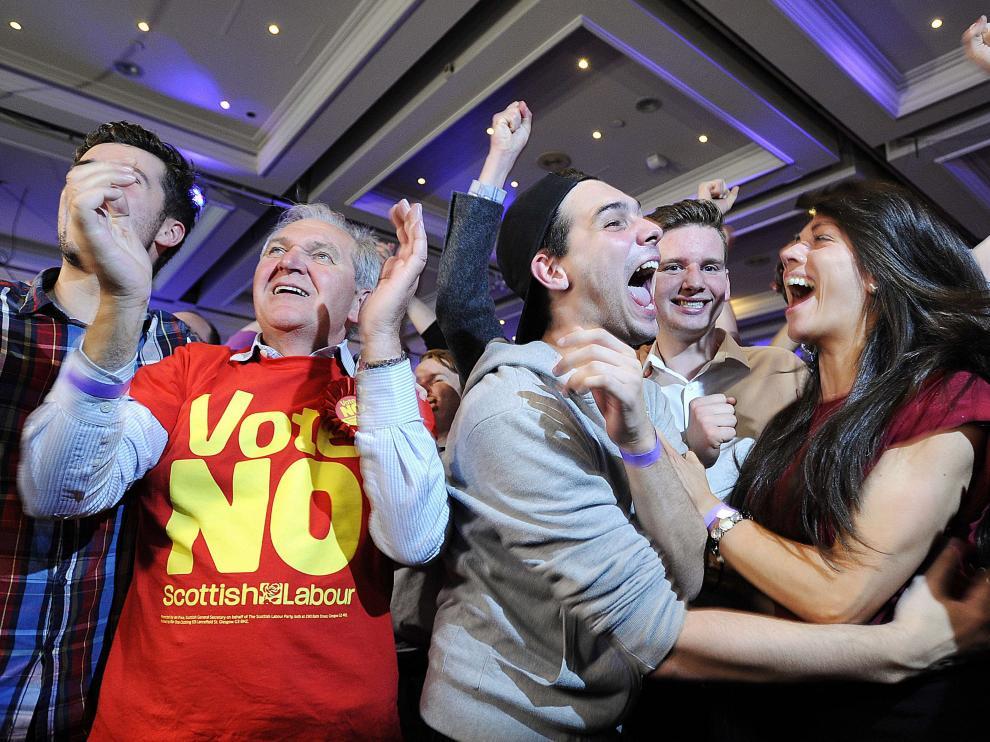 """Partidarios del """"no"""" celebran el resultado"""