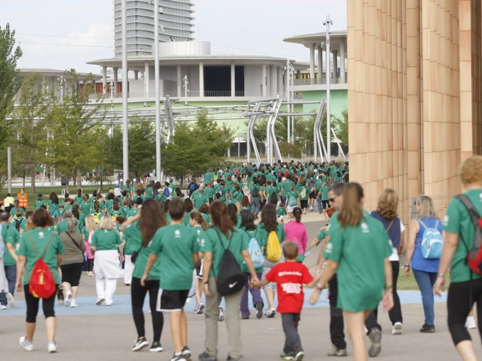 I Marcha contra el Cáncer de Zaragoza, en la zona de la Expo