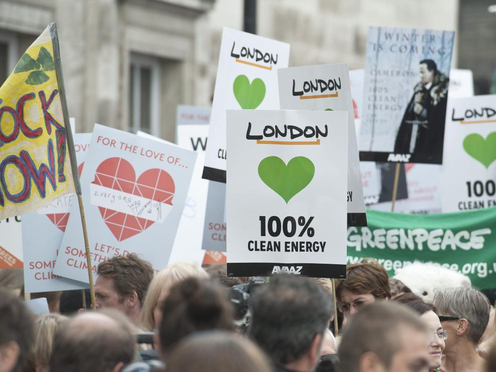 Miles de personas han salido a las calles para concienciar sobre el cambio climático