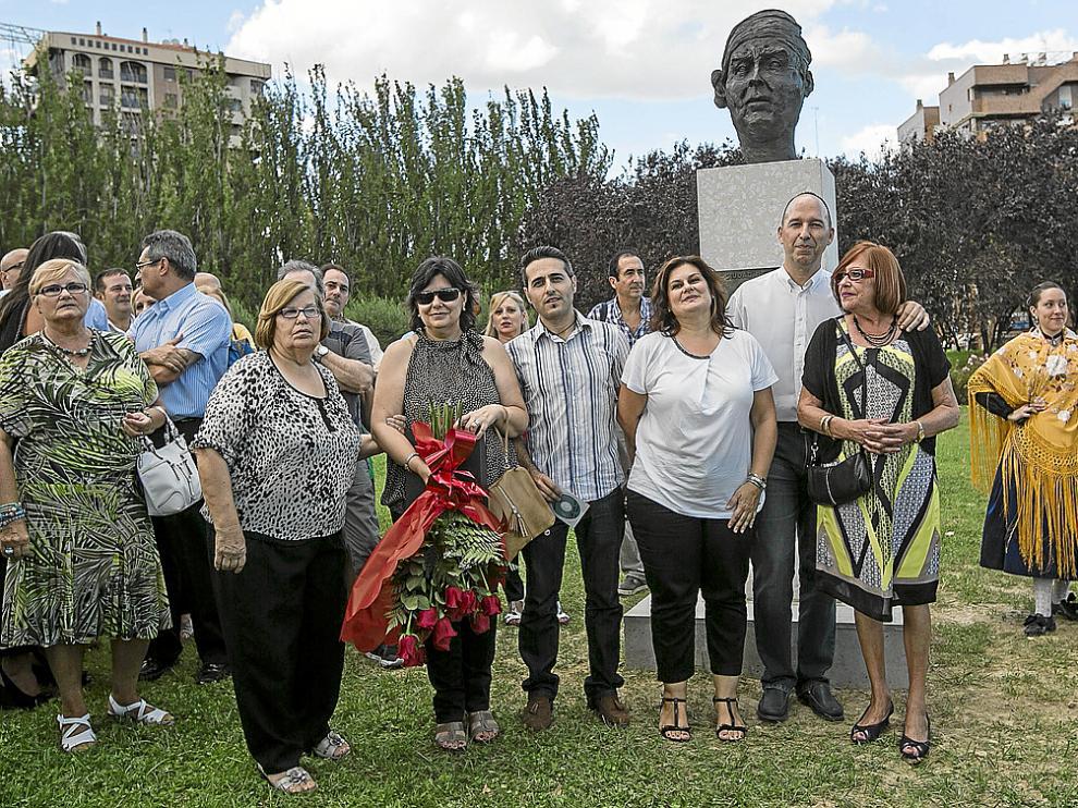María Jesús Usón, María Jesús Arregui, Mariano Arregui, Marta Arregui, Carmelo Asensio y Celia Espiau.