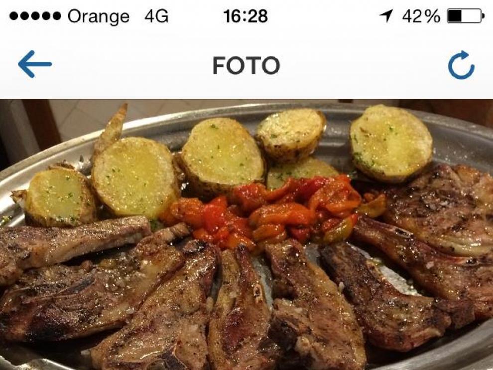 Un plato de La Ternasca subido a Instagram.