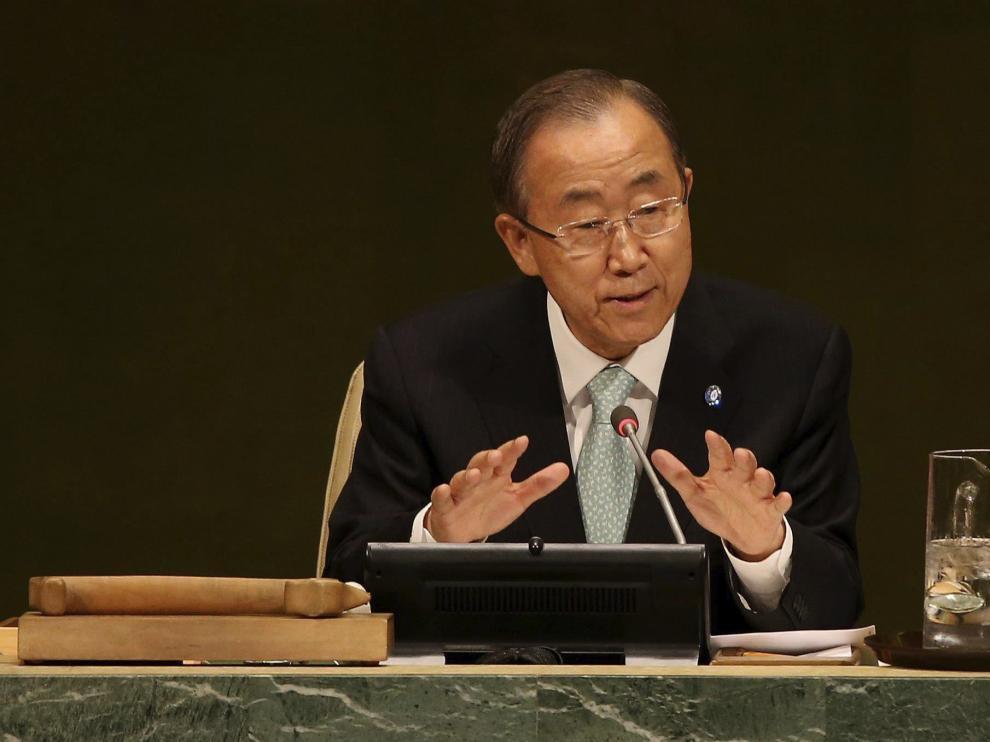 Ban Ki-moon en la cumbre de este martes