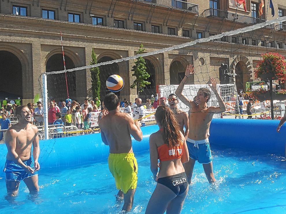 Watervoley. La Territorial presentó su novedoso torneo de voleibol.