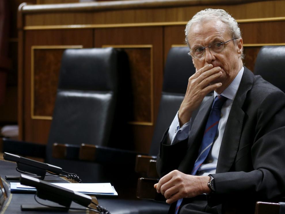 Pedro Morenés, en la sesión de control del Gobierno.