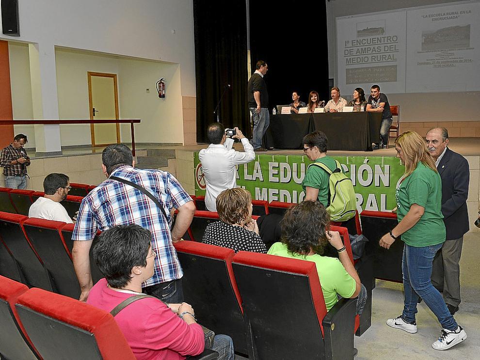 El Primer Encuentro de Ampas del Medio Rural –en la foto– tuvo lugar ayer en Montalbán.
