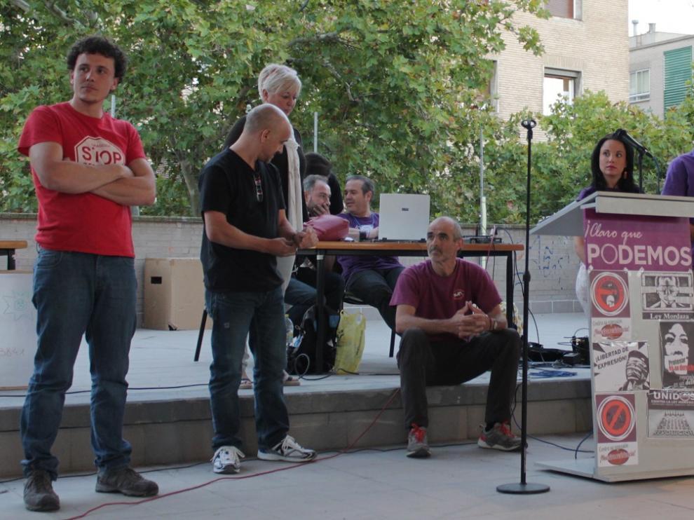 Los candidatos a ser portavoces en Zaragoza de Podemos