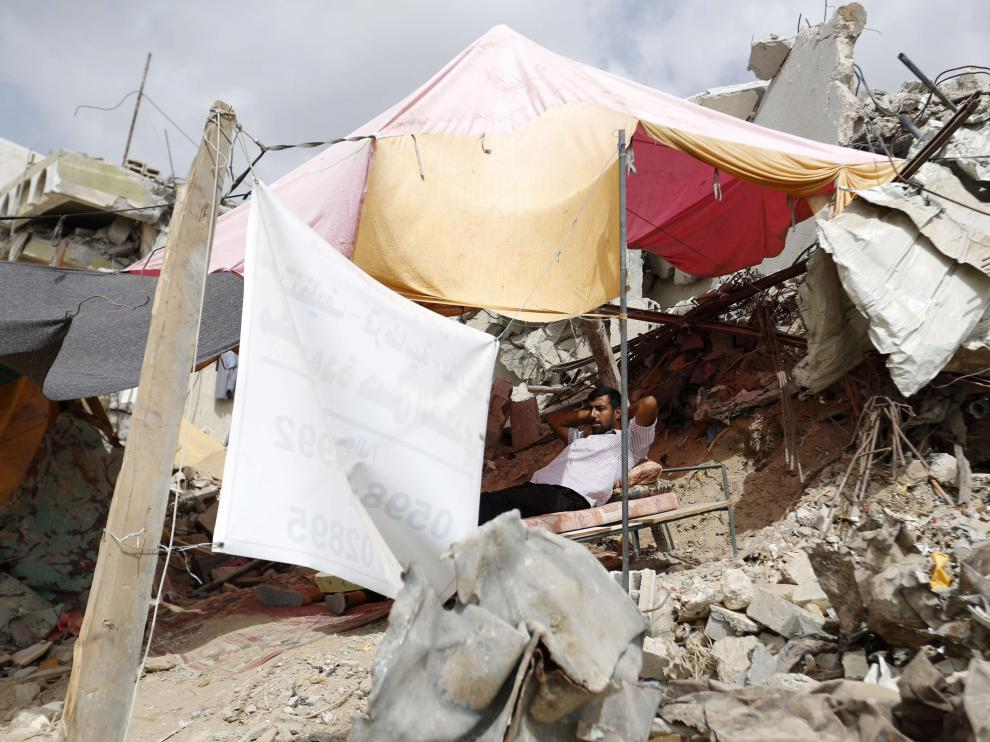 El conflicto entre Israel y Hamás dejó destrucción en las calles de Gaza