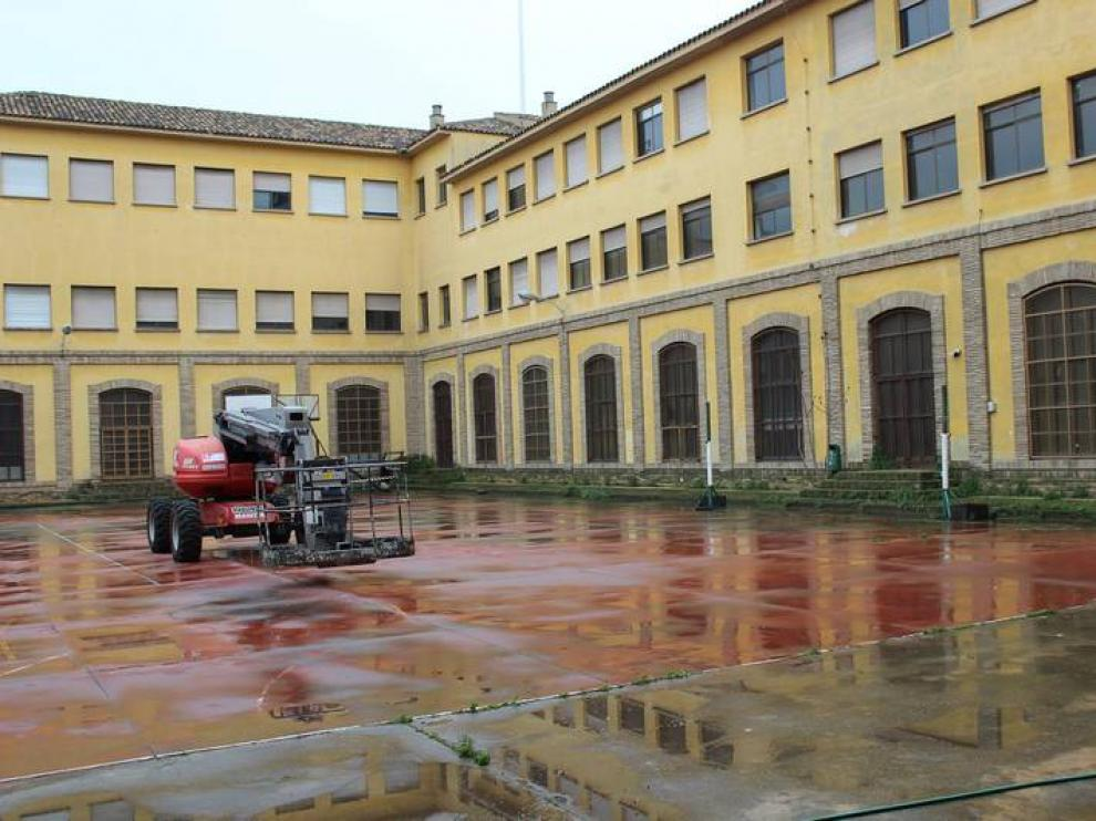 Patio del antiguo instituto Luis Buñuel