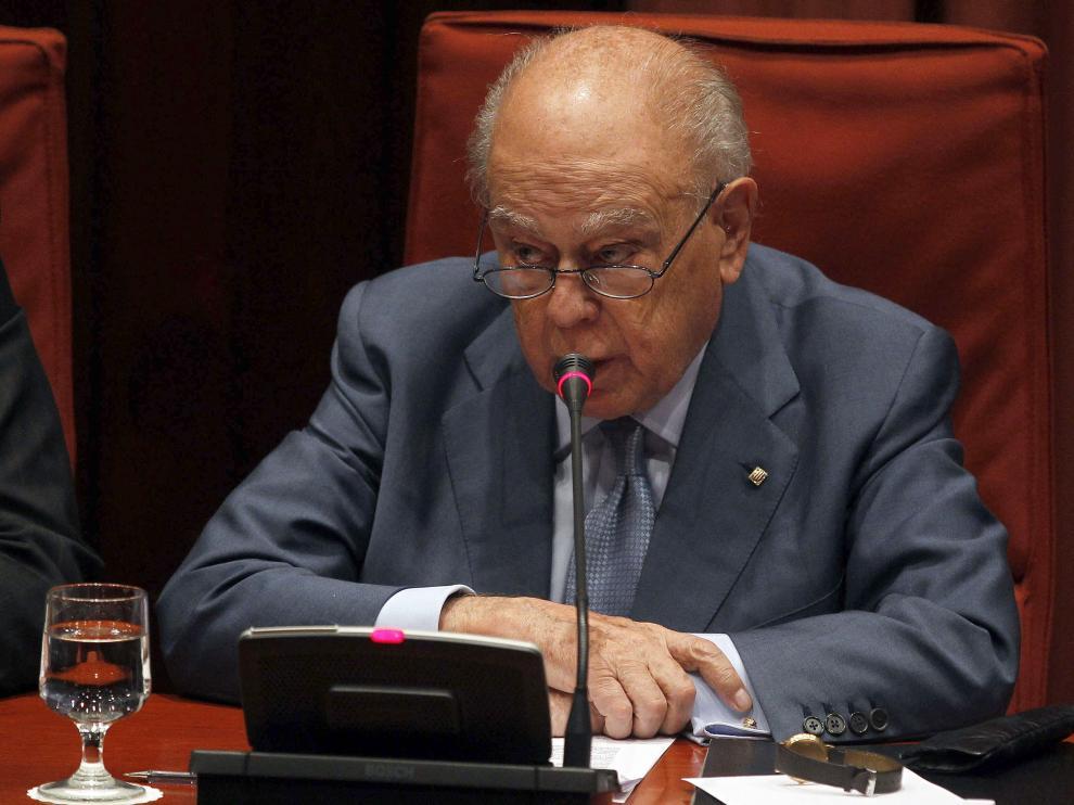 Jordi Pujol en su comparecencia en el Parlamento Catalán