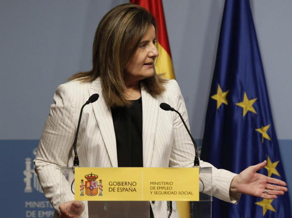 Fátima Báñez, ministra de Empleo y Seguridad Social