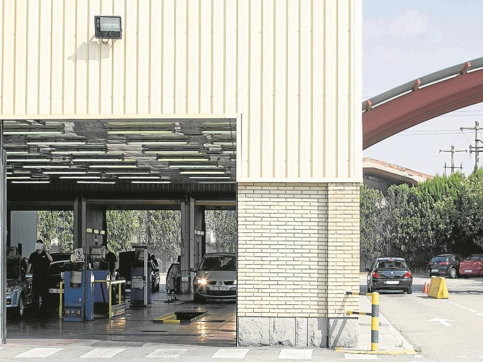 Instalaciones de la ITV de Malpica, ubicada en el polígono industrial del mismo nombre.